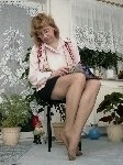 germannylonpics Mature woman in pantyhose with reinforced heel and toe