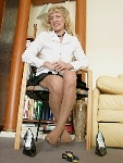 germannylonpics Mature woman in pantyhose with reinforced heel and reinforced toe