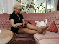 germannylonpics Mature woman in vintage tan pantyhose