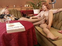 germannylonpics Mother and daughter in vintage pantyhose