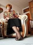 germannylonpics Grandma in black pantyhose