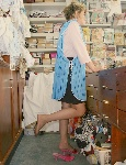 germannylonpics Shop assistant in tan pantyhose
