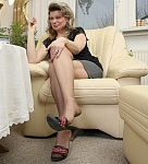 germannylonpics Mature women in rht pantyhose, mules and dangling