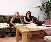 2 Grils in tan pantyhose show of her nylon feet soles - 0387_0115.jpg