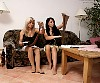 2 Grils in tan pantyhose show of her nylon feet soles - 0387_0124.jpg