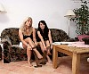 2 Grils in tan pantyhose show of her nylon feet soles - 0387_0168.jpg