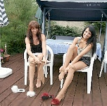 germannylonpics Mother and daughter in pantyhose