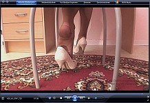 germannylonpics Secretary in tan rht-pantyhose